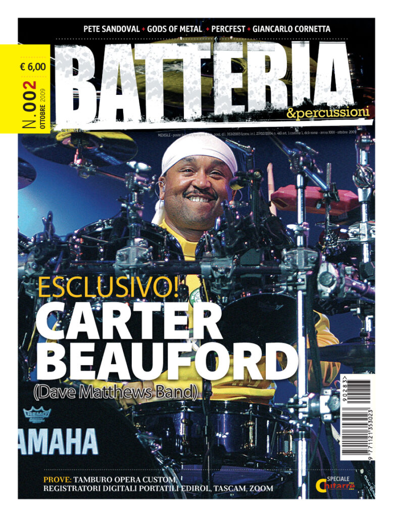Carter Beauford: Batteria & Percussioni October 2009